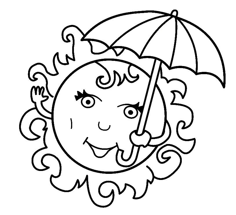 Раскраски под зонтом